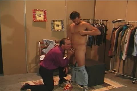 Collin Jennings bangs Bruce helLOLl In A costumeing Room