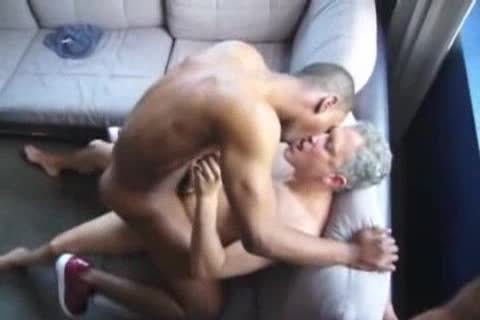dark homosexual lad pounded By Two Ultimate whores