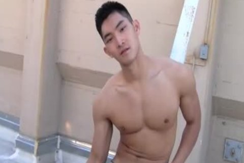 asian Chowdynese handsome boy jerking off