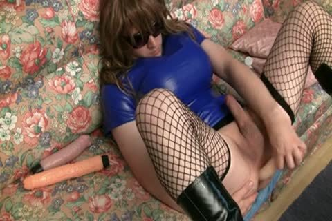 anal Play In Blue Plastic costume