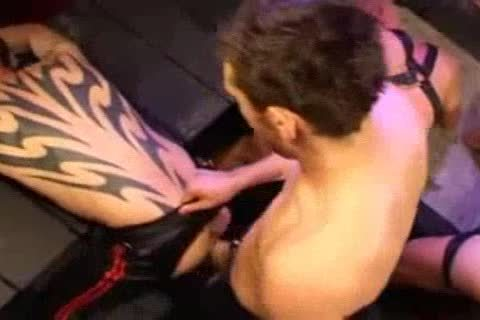Leather butthole hammering And Fisting