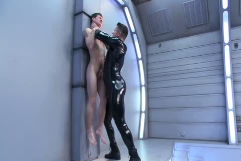 bdsm bondage homosexual chap Is Whipped slammed And Milked