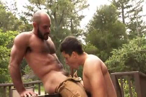 curly Muscle Bald Bear hammers Jay Roberts