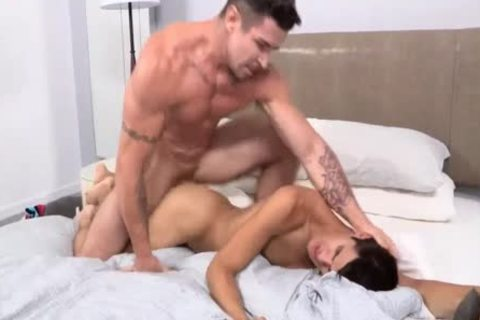 LATINO twink spreads hiS pooper FOR A massive WhiTE wang