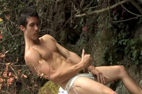 Beating Off OutSide And cumming On Trees