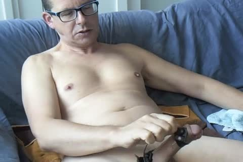 An Electro Stimulation Vid And I Jerk-off Till I shoot My Second Load For This Day ;-)