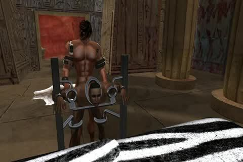 bdsm Play In A Temple Near Petra. Filmed In Second Life