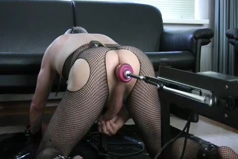 tied Up In My doggy style Stockade Being banged By A Machine