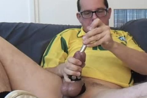 Masturbating 30 Minute Session. Half Hour Of Cbt And Urethra Sounding. I Marked (color Tip) My Sounds So u Could Clearly see The 16, 17 And 18mm. Wearing My Yellow Brasil Soccer Shirht, Sniffing A Lot From The Yellow Little Bottle.