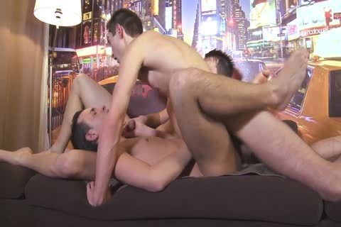 Three homosexual dudes All Sodomize Each Other