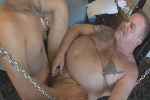 greater quantity Play Party Footage, Pt 2. A sleazy Piggy Sub Bear (Verytwisted On Xtube) Sucks My penis (BeartoyLA) And Peterprinciple (on Bbrt) Too.  Then Verytwisted Hops In The Sling To get Tag Team plowed By Us both And His anal acquires A horny