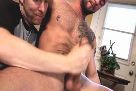 Two pumped up males Who Love Playing With weenie