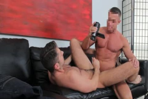 Straight twink On The Casting daybed Sucks Some dick