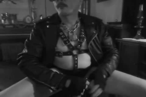 one greater amount Horned Up Smoking Ball Stretching Session In My Leather Gear And Boots. With My tied Up wang And Stretched Balls On A Leash!!!