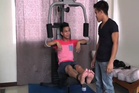 asian boy Warren acquires Hog tied And Tickled