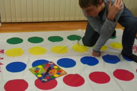 Davey Likes To Play Twister Alone And nude