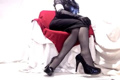 slutty Seamed stockings And Heels