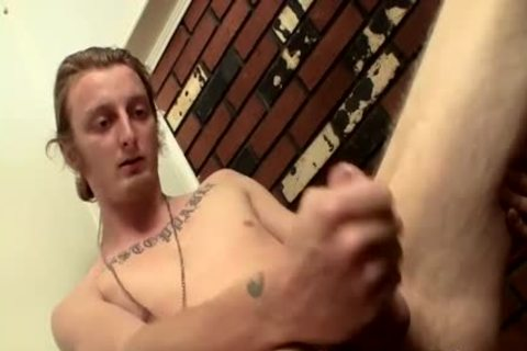 lengthy Hair man Billy Jerks His Hard jock In Front Of Camera