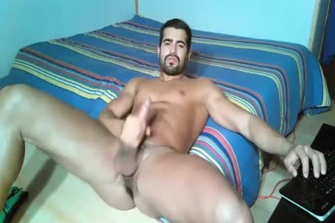 ravishing Portuguese With Large ramrod jerking off On Web Camera