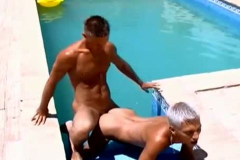 Wow dirty weenies dirty Poolside homosexual butthole banging