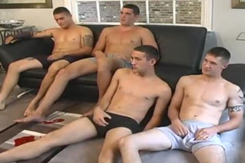 What A Load Of Wankers All Having A bunch Jerk Session