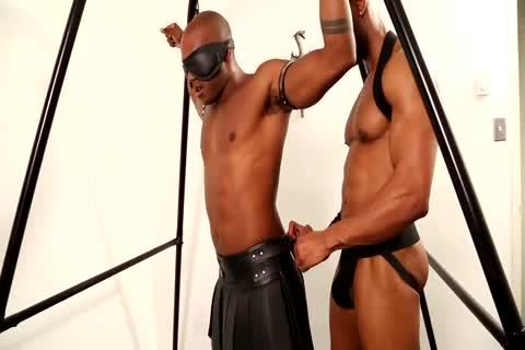 black Leather Sling Muscle