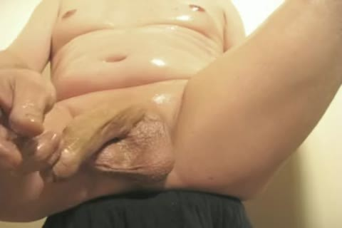 Robin Jerks His shaved Oiled Uncut Monstercock 144