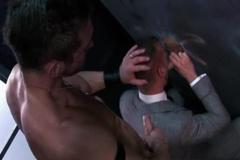 Muscle gay 3some And Facial