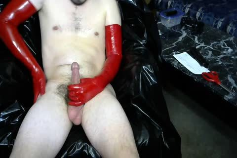 Red Latex Masturbation