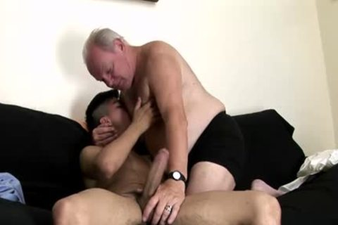enormous penis Daddy pooper With ball cream flow