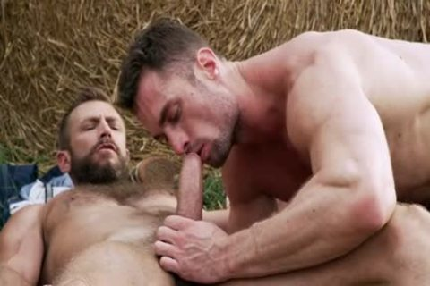 Muscle gay wazoo To throat And Creampie