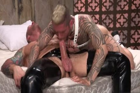 Tattoo'd Muscle Beefcakes With Bum Love Behind nailing Fetish lick 10-Pounder And Take A ejaculation