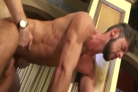 Muscle homosexual pooper stab And cumshot