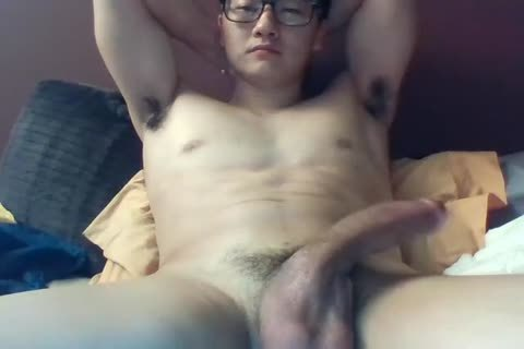 A big Dicked South Korean lad Jerks And Cums