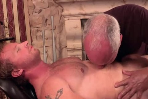 Uncut blond Redneck Massage