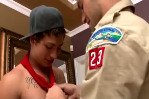 teens Scout three-some