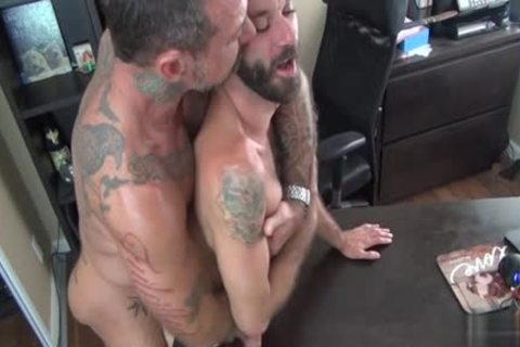 brunette Bear butthole invasion With cumshot