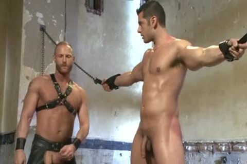 Muscle homosexual bound And Facial cum