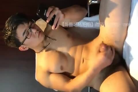 dirty oriental chap undresses Down And Jerks His knob