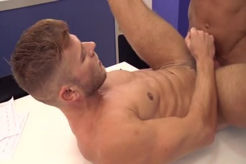 Muscle gay a bit of butt And cock juice flow