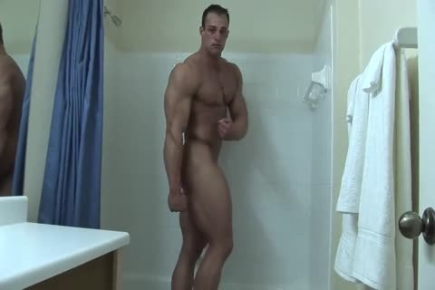 Coty undresses nude In bathroom