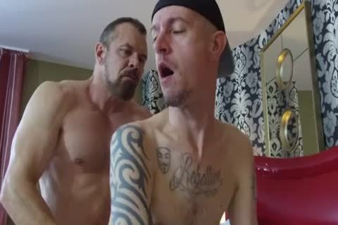 Robert Rexton get's drilled By Muscle Daddy's Max Sargent & Chance Caldwell