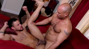 The DILF Diaries - John Magnum and Beaux Banks anal Licking Nail