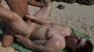 Sex On The Beach - Brent Everett with Eric Clark anal fuck