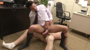 The Office slut three - Connor Maguire & Mike De Marko ass pound