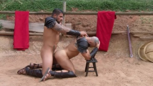 Sacred gang Of Thebes - Francois Sagat and Ryan plows ass Nail