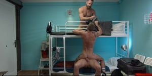 Hostel Takeover - Damon Heart with Logan Moore butthole plow
