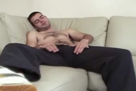 stroking And Sniffing In black Socks