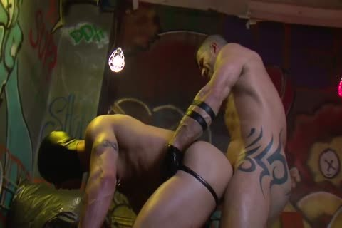 Adam Killian In Latex Forces Jesse Santana To take up with the tongue His butthole