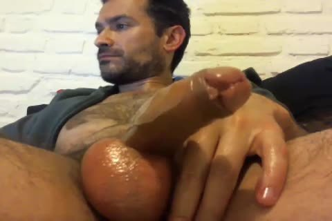 Oiled Up Daddy loves To jerk off Himself Off